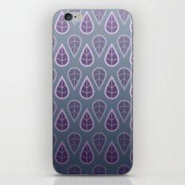 leafy pattern purple iPhone Skin