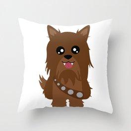 Chewbacca the Yorkie Throw Pillow