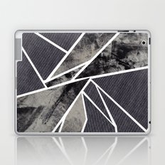black and white flower Laptop & iPad Skin