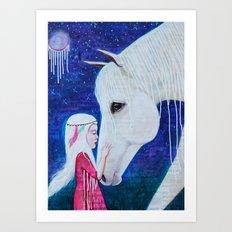 Two Spirits Communing Art Print