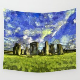 Stonehenge Vincent Van Gogh Wall Tapestry