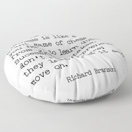 Successful entrepreneurs - Richard Branson quote Floor Pillow