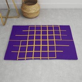 Blue & Gold Matrix Rug