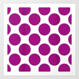 Fuchsia Polka Dot Art Print