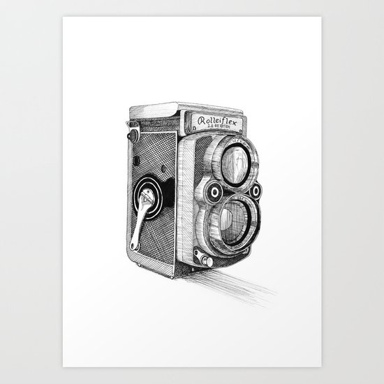 Rolleiflex Vintage Camera Art Print