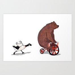 Bear and Goose Art Print