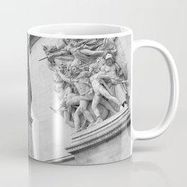 Arc De Triomphe Paris France Art Photography Print Black and White Monochrome Coffee Mug