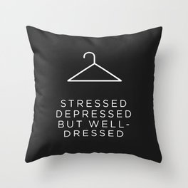 Well Dressed (Black) Throw Pillow
