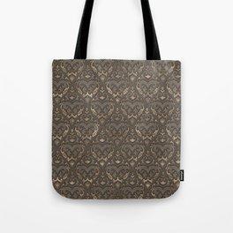 Oriental Pattern - Pastel Beige Leather Tote Bag