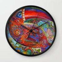 toucan Wall Clocks featuring Toucan by oxana zaika