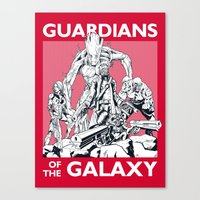 guardians Canvas Prints featuring Guardians by LilloKaRillo