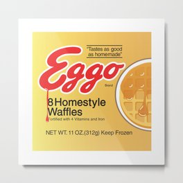 Stranger Eggo Waffles Metal Print