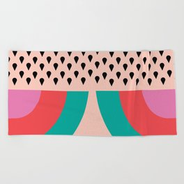 RAINBOW WATERMELON Beach Towel