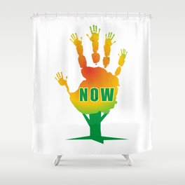 Stop Now Shower Curtain