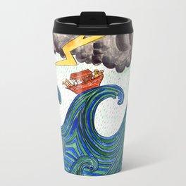 Noahs Ark on Stormy Sea Travel Mug