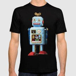 Retro Tin Toy Robot Polygon Art T-shirt
