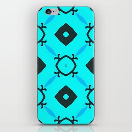 Light Blue Behind Dark Diamonds iPhone Skin
