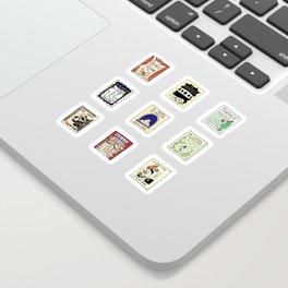 Virginia Woolf Book Covers Sticker