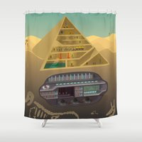 egypt Shower Curtains featuring Egypt by Xènia Castellví