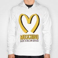 moschino Hoodies featuring MOSCHINO  by Claudio Velázquez