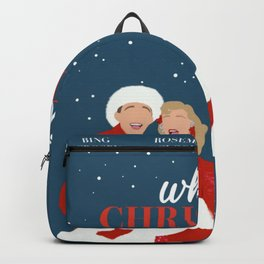 White Christmas Movie Poster, Minimalist Movie Print, Holiday Art Decor Backpack