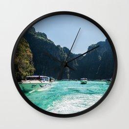 Thailand Boats Wall Clock