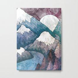 A cold river canyon Metal Print
