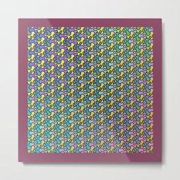 Pattern 002: Blobs Metal Print