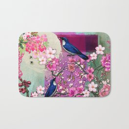 Meeting in the Garden Bath Mat
