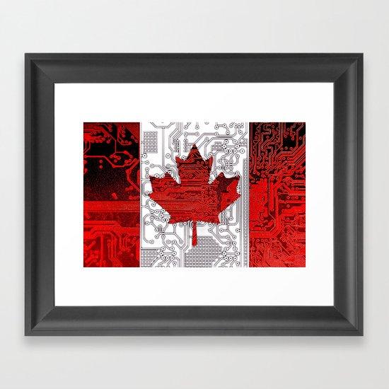 circuit board Canada (Flag) Framed Art Print