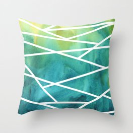 Stripes and Colour 1 Throw Pillow