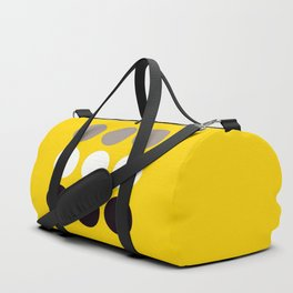 Abacus - Retro Dots On Yellow Background #decor #society6 #buyart Duffle Bag