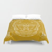 c3po Duvet Covers featuring C3PO by Jon Deviny