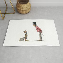 The Circus: Clown and Ringmaster Rug
