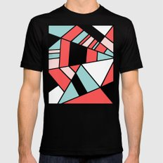 Abstract #451 Black MEDIUM Mens Fitted Tee