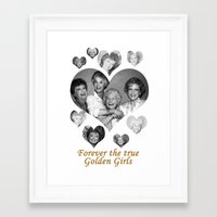 golden girls Framed Art Prints featuring The Golden Girls by BeeJL