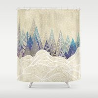 dreams Shower Curtains featuring Snowy Dreams  by rskinner1122