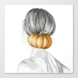 Halloween woman Canvas Print