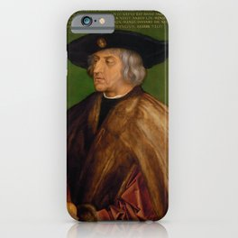 Albrecht Dürer - Portrait of Maximilian I (1519) iPhone Case