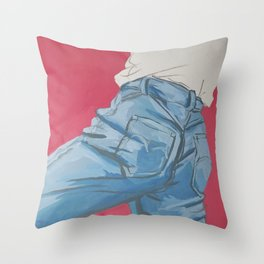 good old jeans Throw Pillow
