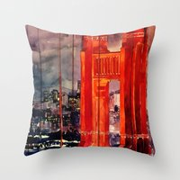 takmaj Throw Pillows featuring San Francisco by takmaj