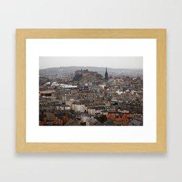 Edinburgh in the Rain Framed Art Print