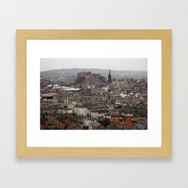 Edinburgh in the Rain Framed Art Print