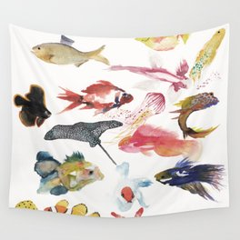 Fishy gathering Wall Tapestry