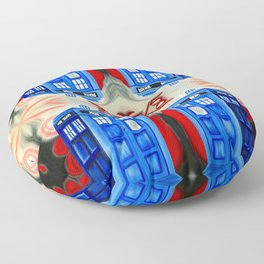British Blue Police Public Call Box - 1111 Nexus Floor Pillow