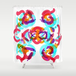 Abstract colorful Shower Curtain