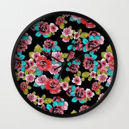 Elegant Roses Wall Clock