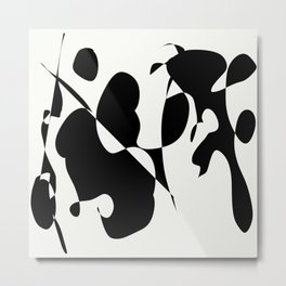 Ink Blot Art Spot Metal Print