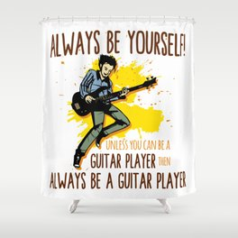 Guitar Electric Acoustic Guitarist Gift Shower Curtain