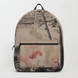 Ghent Painted Postcard Backpack